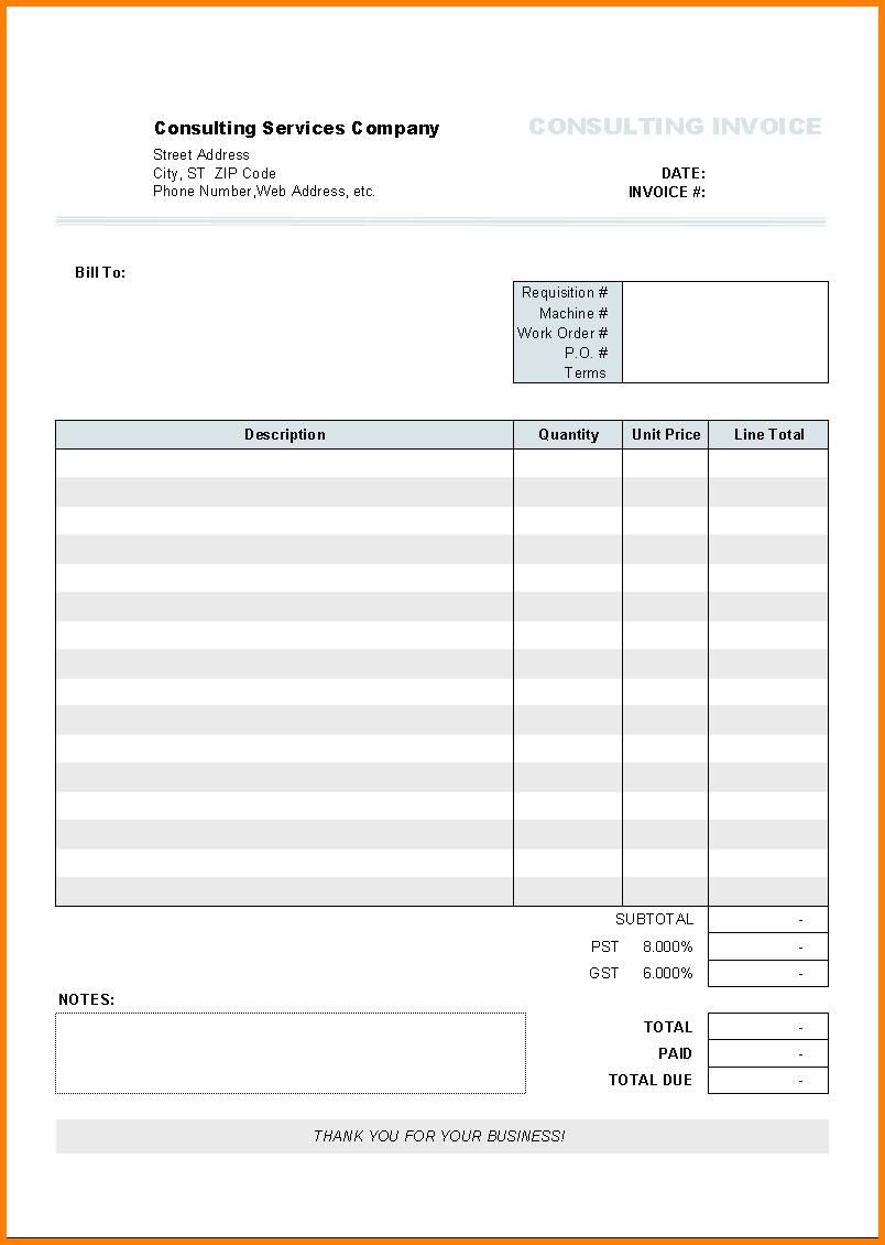 Free Invoice Template For Doctors