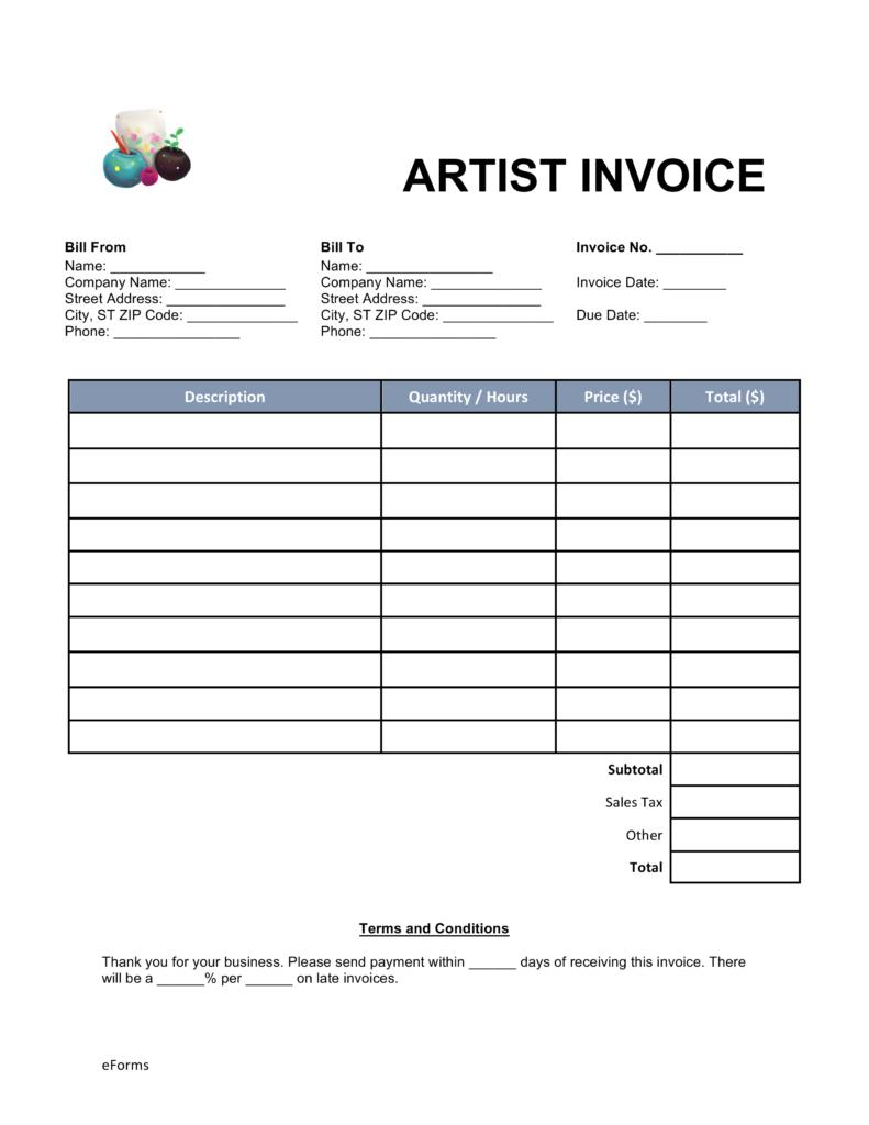 Free Invoice Template For Mac Os X