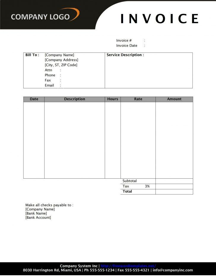 Free Invoice Templates To Print