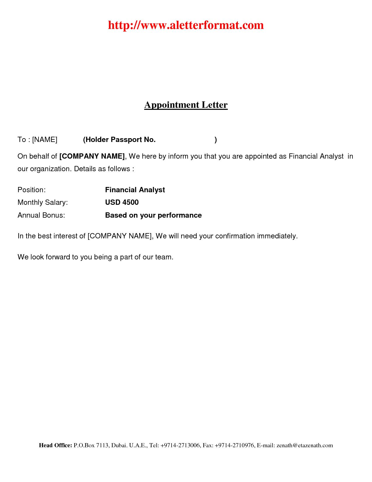 Free Job Offer Letter Template Word
