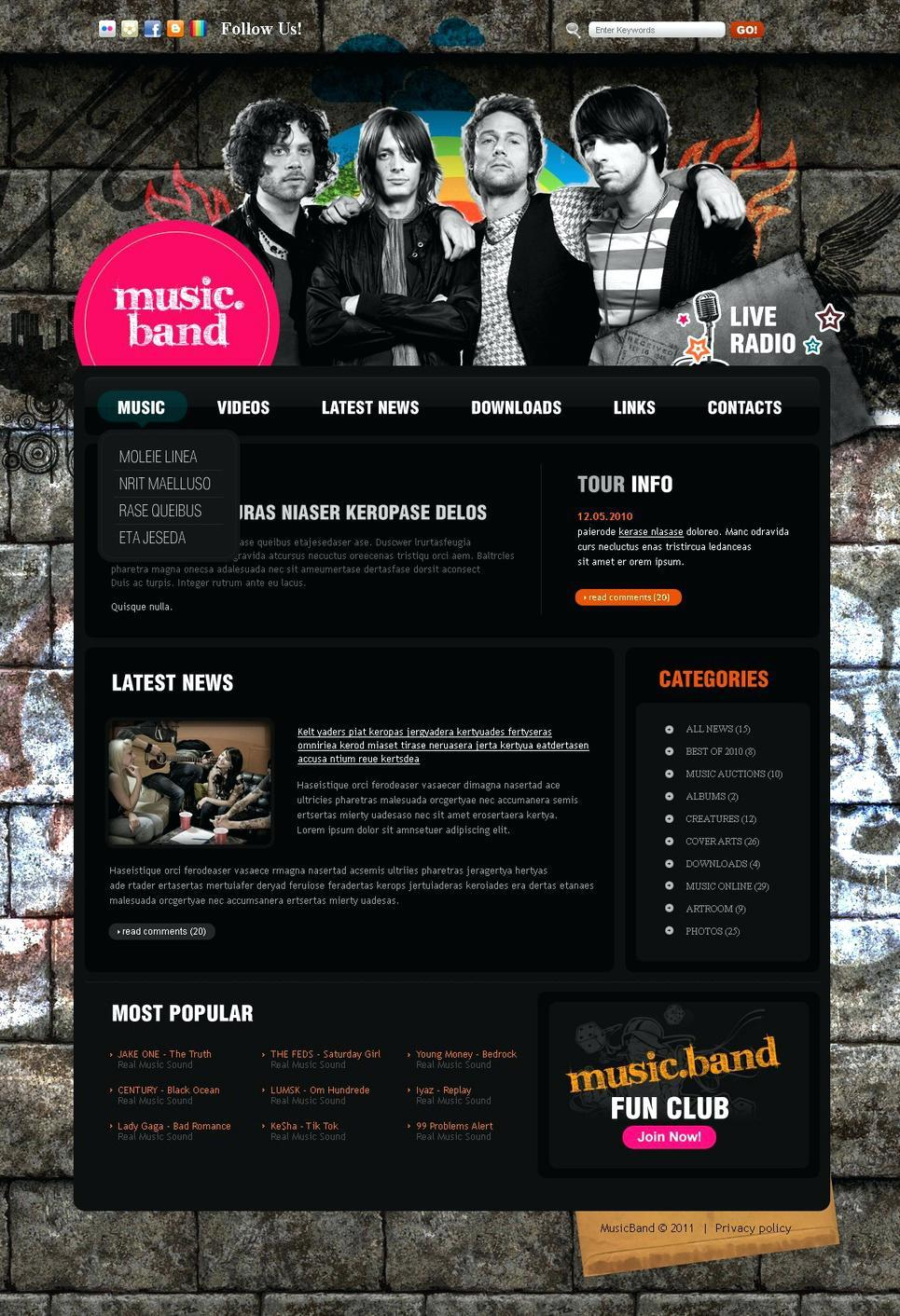 Free Joomla Radio Station Website Templates
