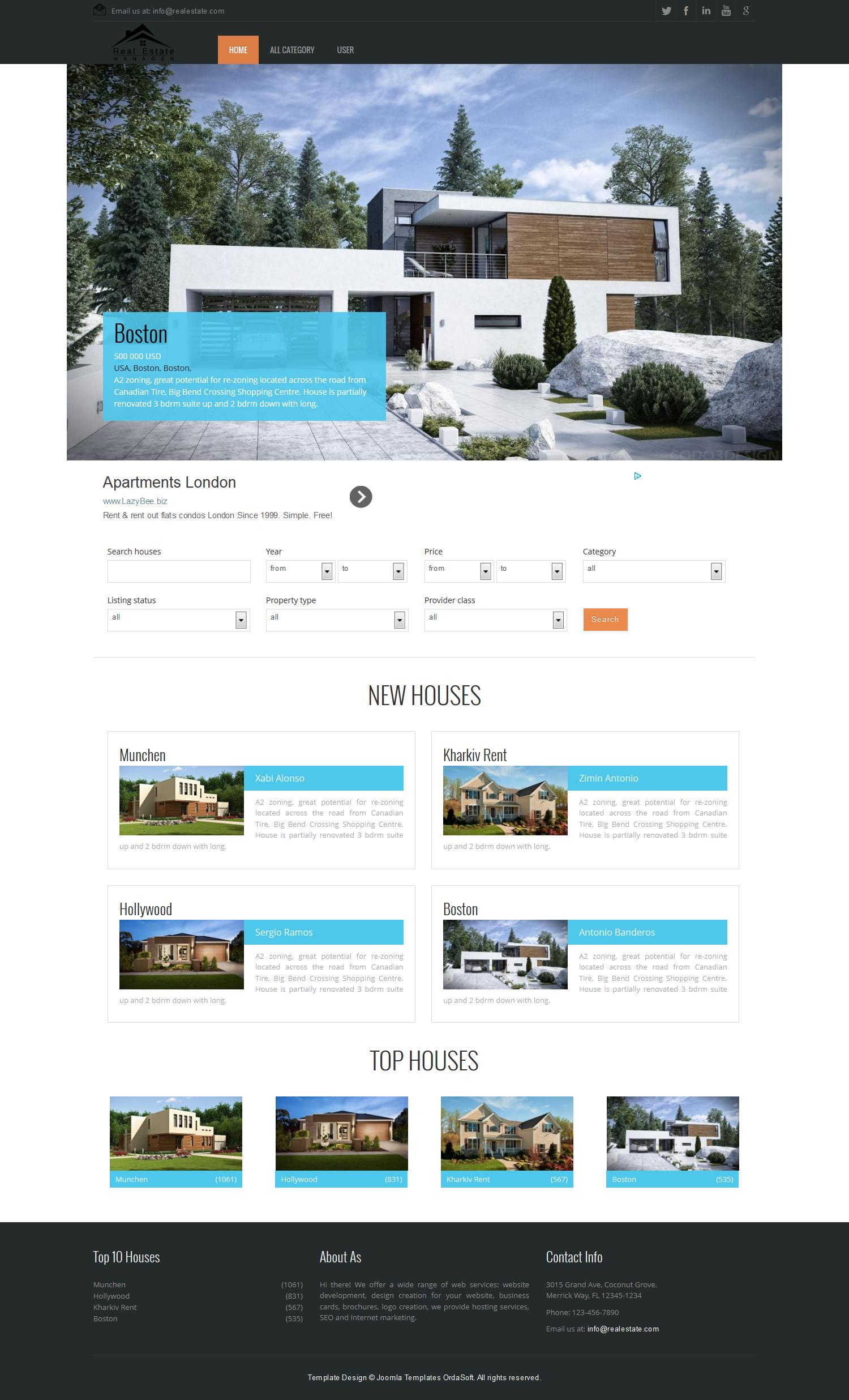 Free Joomla Real Estate Theme