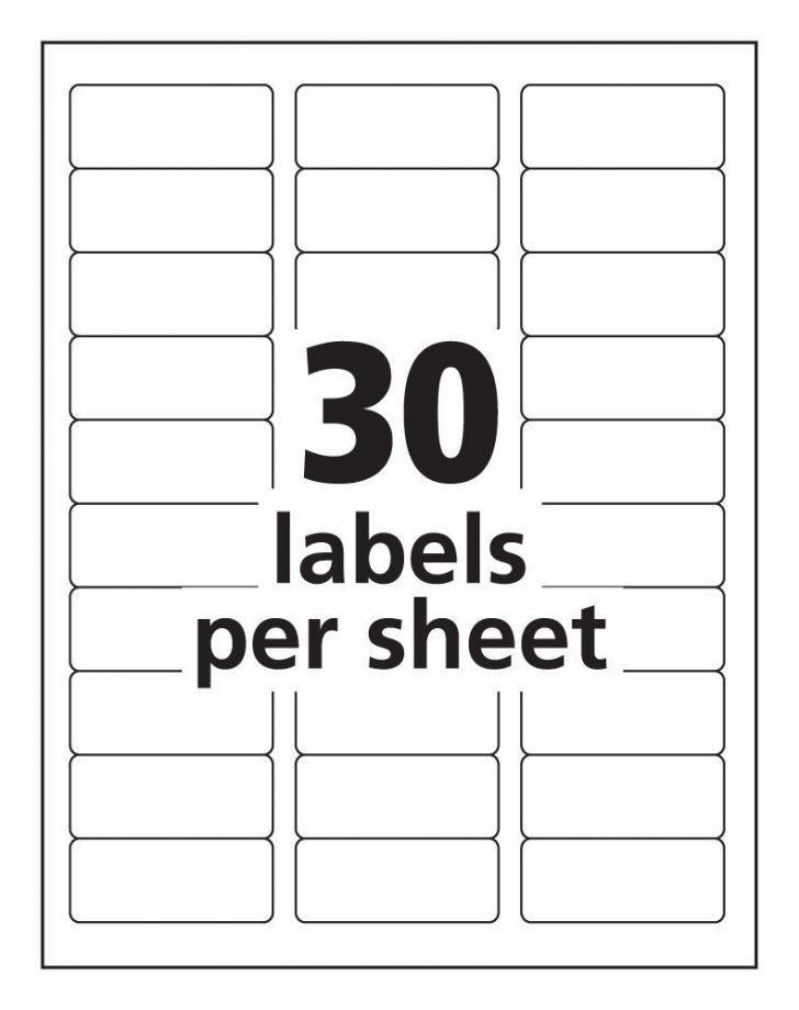 Free Labels Template 30 Per Sheet