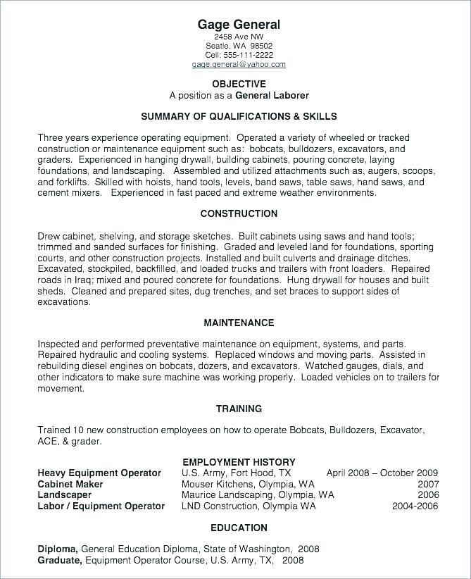 Free Laborer Resume Templates