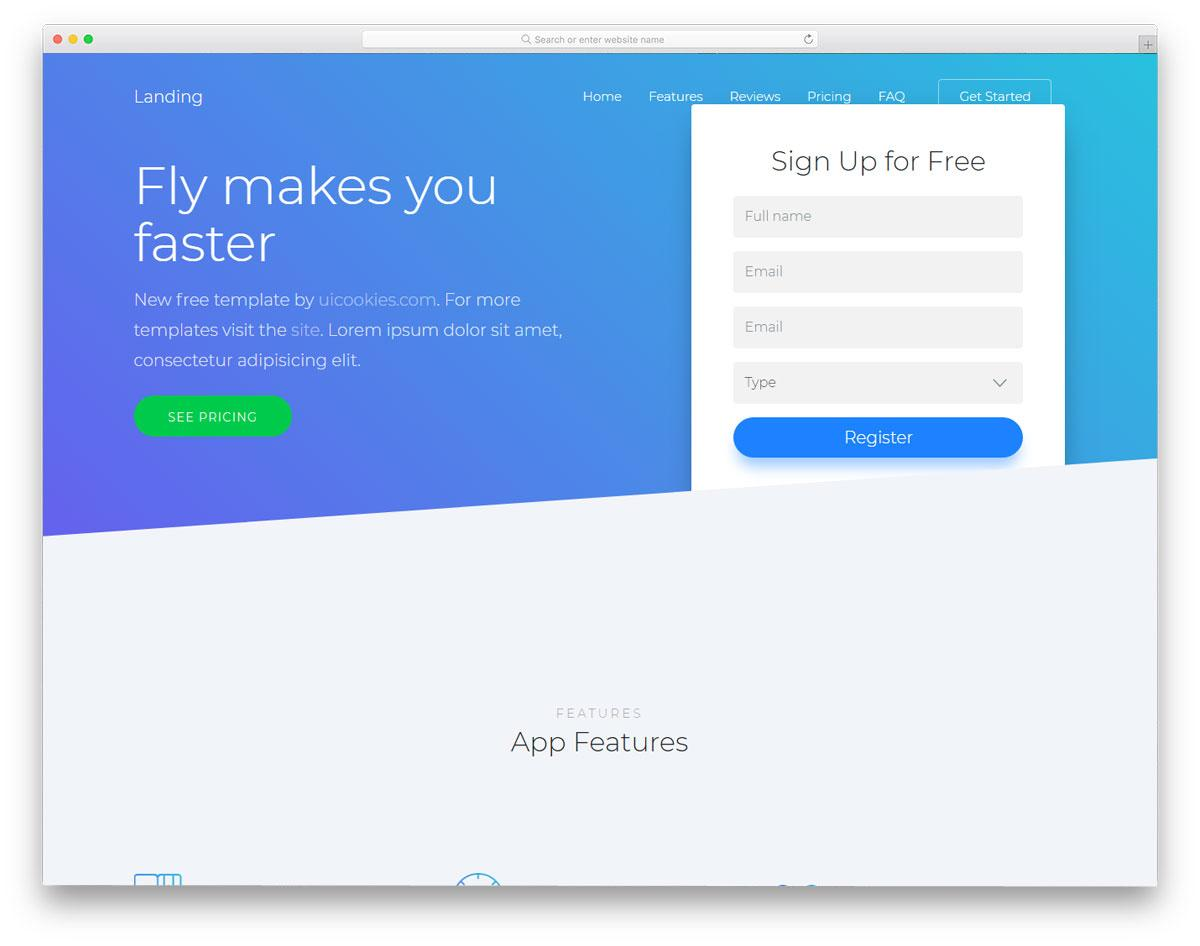 Free Landing Page Templates Bootstrap