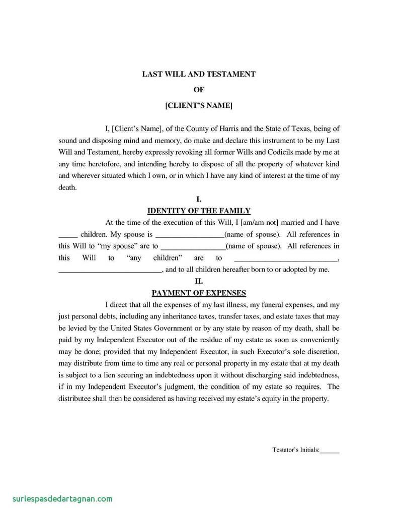 Free Last Will And Testament Template Alabama