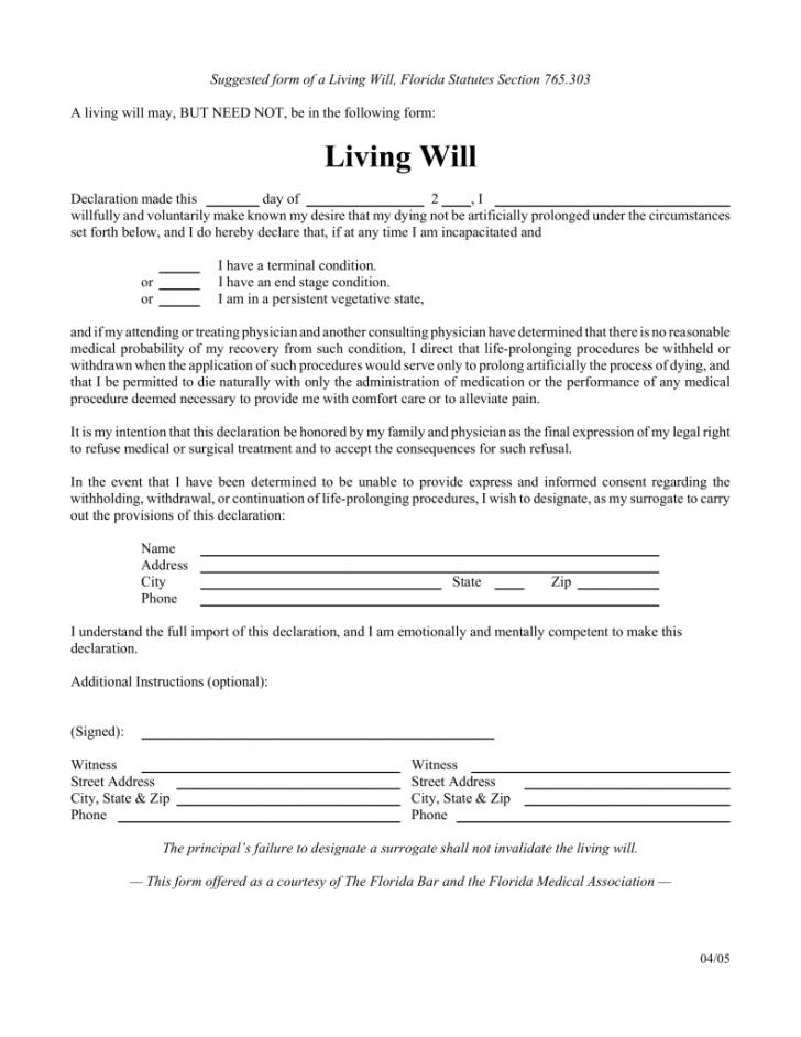 Free Last Will And Testament Template Nj