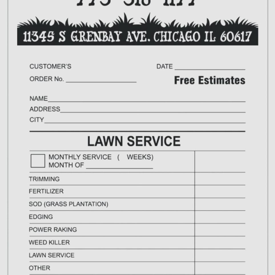 Free Lawn Care Invoice Template Download