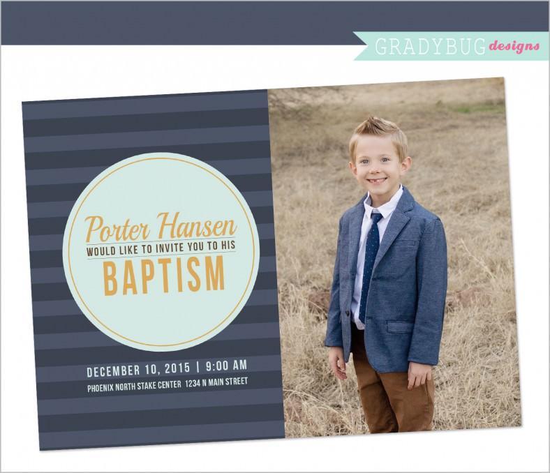 Free Lds Baptism Invitation Template
