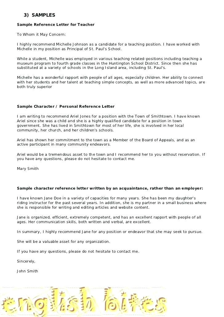 Free Letter Of Recommendation Template For Student