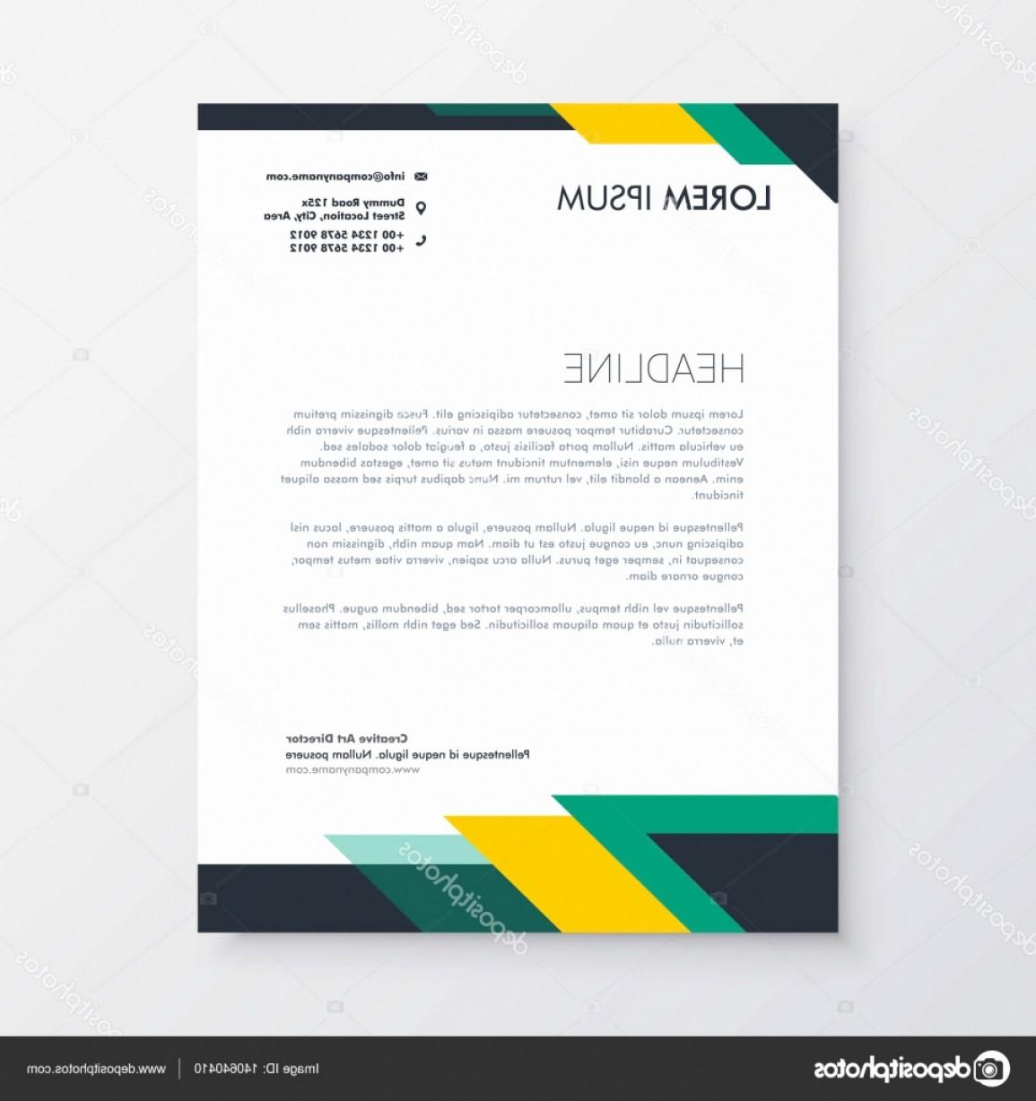 Free Letterhead Design Template Vector