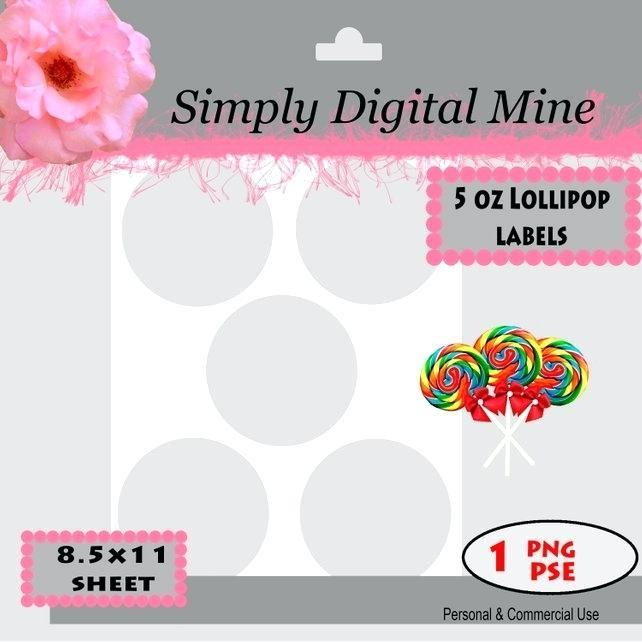 Free Lollipop Labels Templates