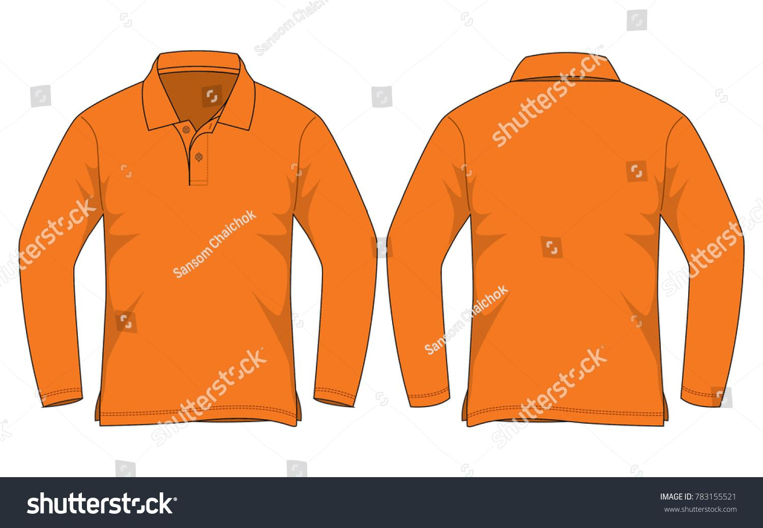 Free Long Sleeve Polo Shirt Template