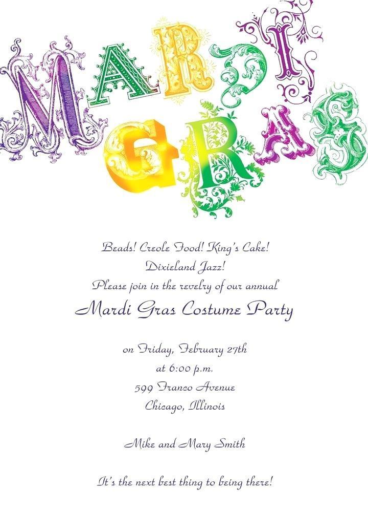 Free Mardi Gras Invitation Templates