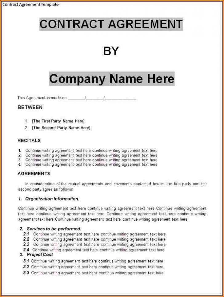 Free Marketing Consultant Contract Template