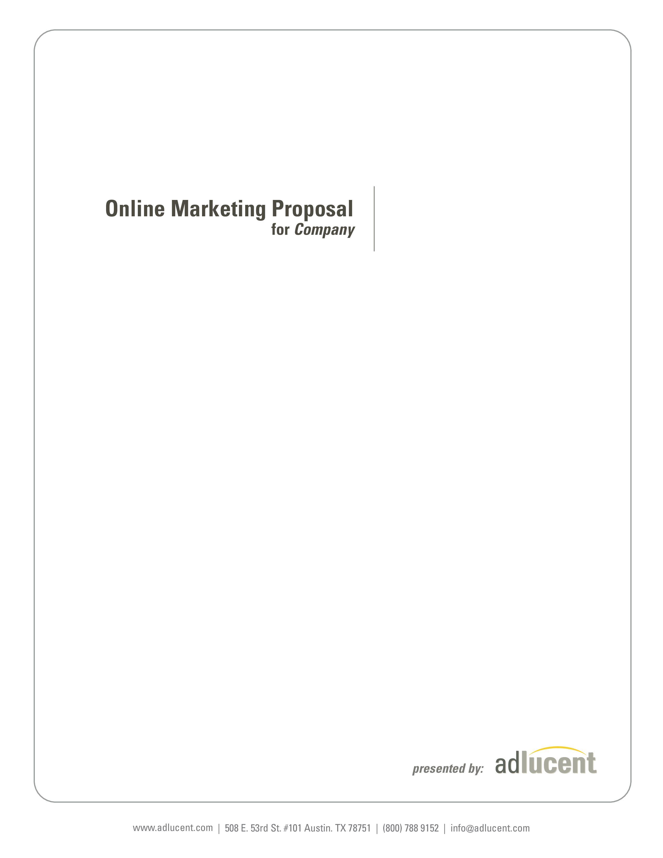 Free Marketing Proposal Templates