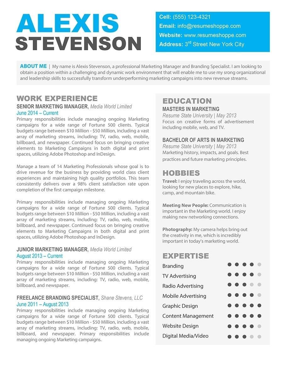 Free Marketing Resume Format Download