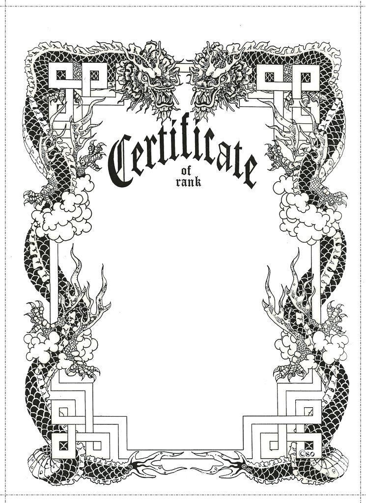 Free Martial Arts Rank Certificates Templates