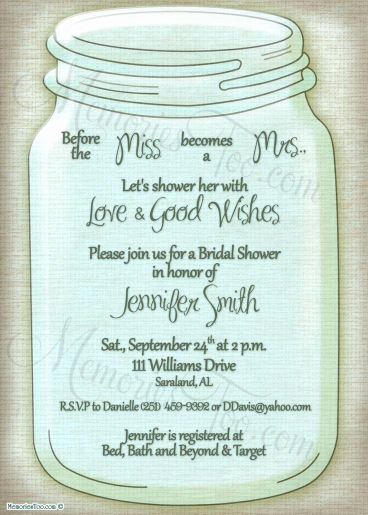 Free Mason Jar Birthday Invitation Template