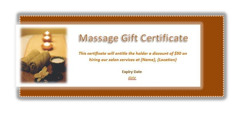 Free Massage Gift Certificate Template Word