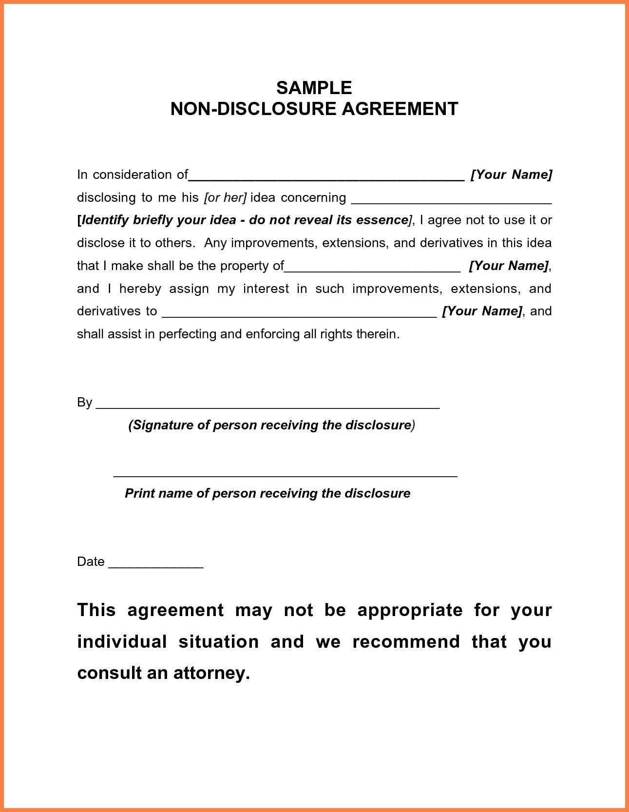 Free Medical Confidentiality Agreement Template