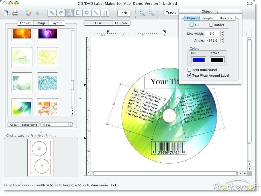 Free Memorex Cd Label Maker Template