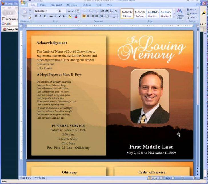 Free Memorial Program Templates