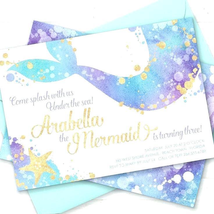Free Mermaid Birthday Invitation Templates