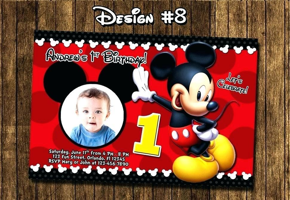Free Mickey Mouse Birthday Invitation Card Maker
