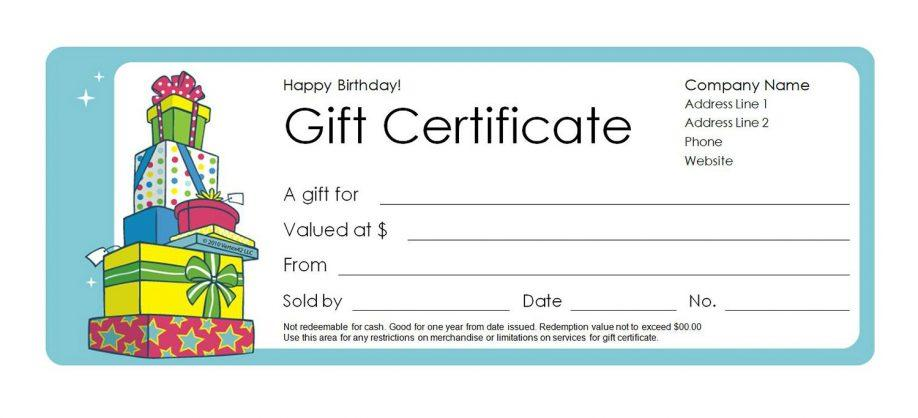 Free Microsoft Christmas Gift Certificate Templates