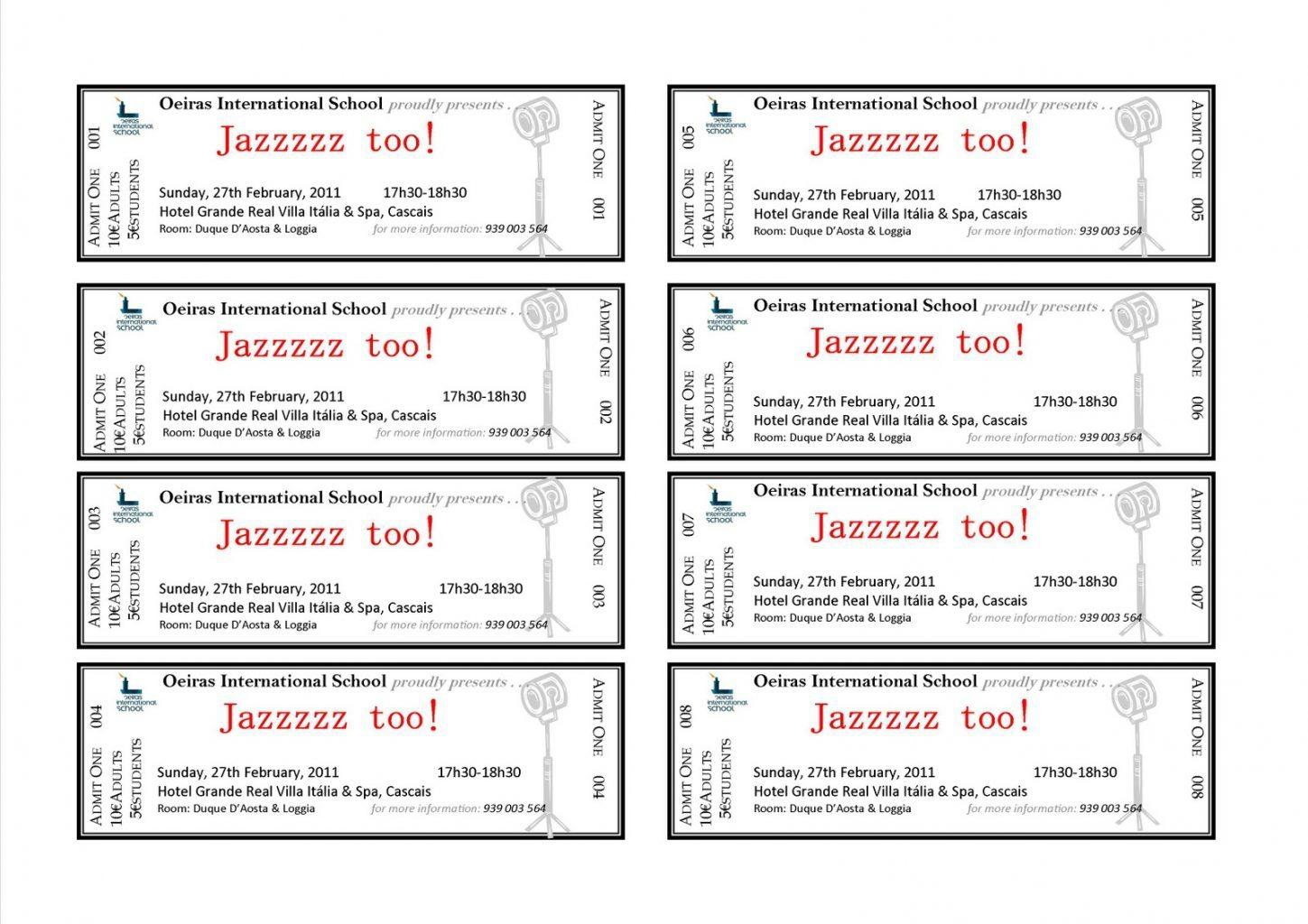 Free Microsoft Event Ticket Template