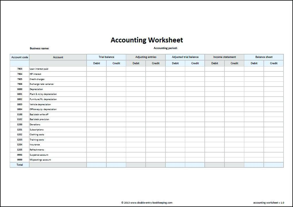 Free Microsoft Excel Accounting Templates