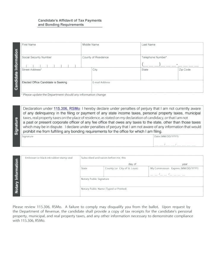 Free Microsoft Word Affidavit Template