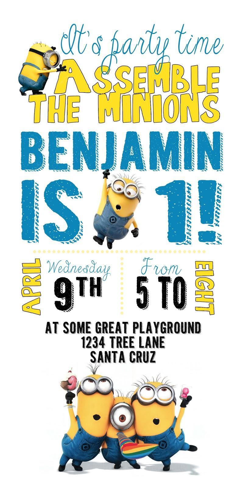 Free Minion Invitation Template