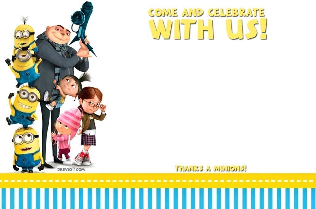 Free Minions 1st Birthday Invitation Templates