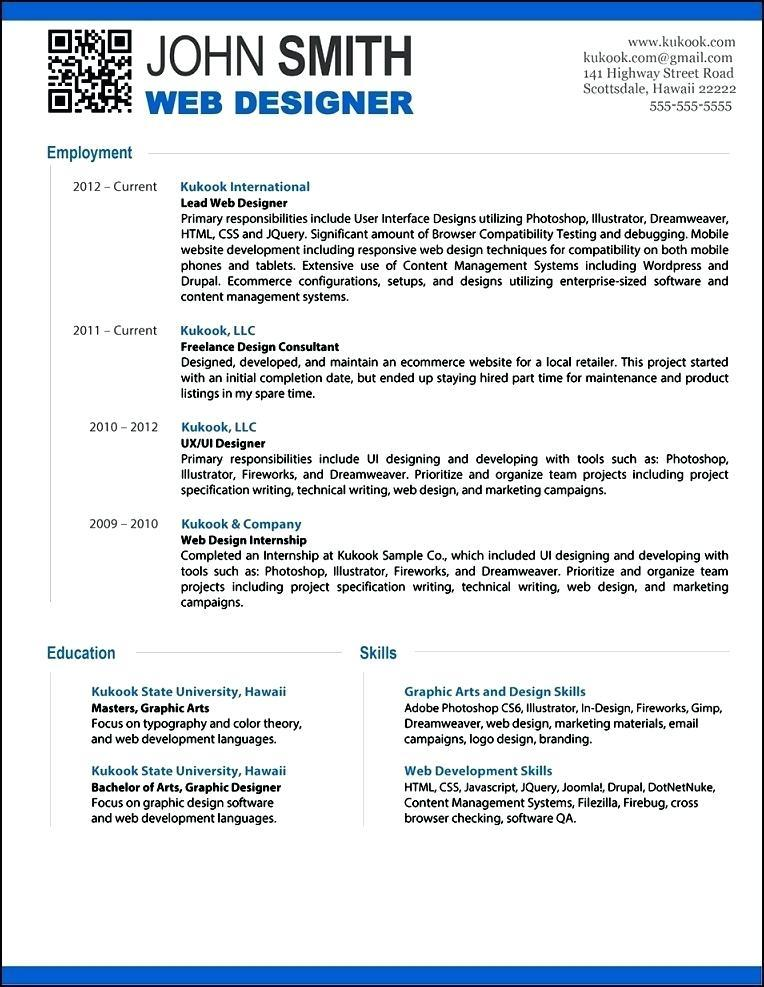 Free Modern Resume Templates For Teachers