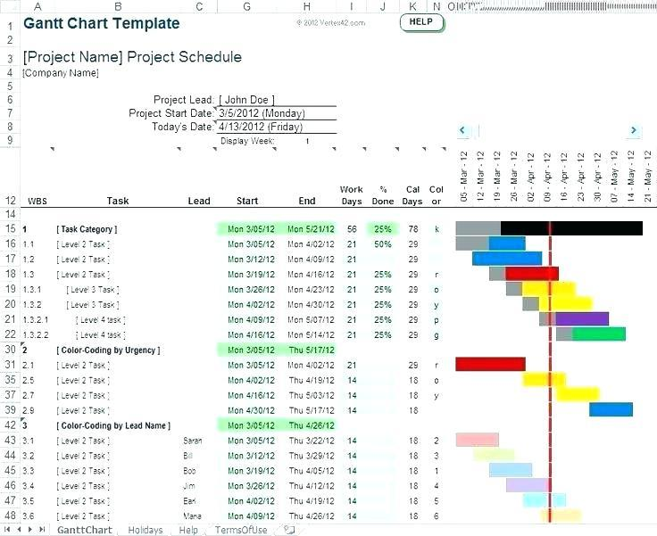 Free Monthly Gantt Chart Excel Template