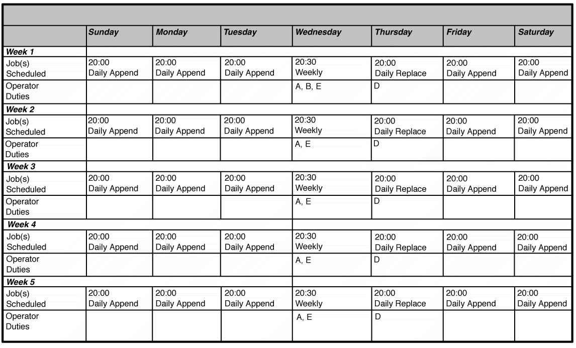 Free Monthly Work Schedule Template Excel