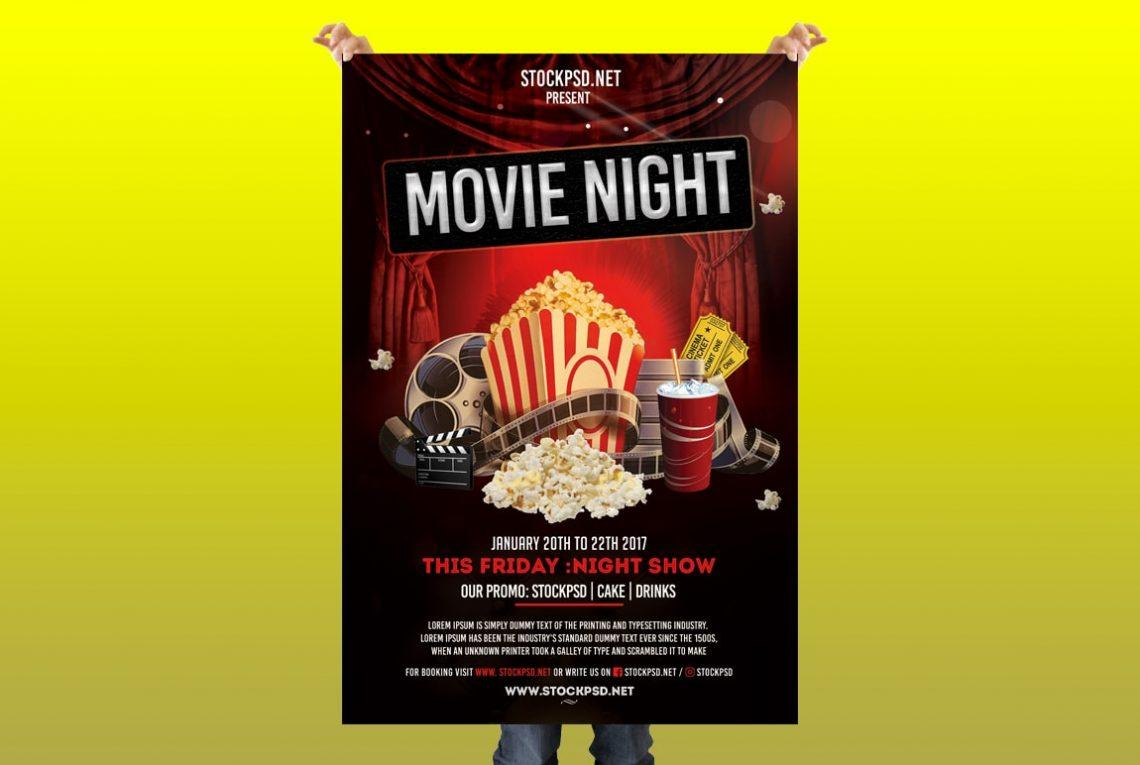 Free Movie Flyer Template Psd