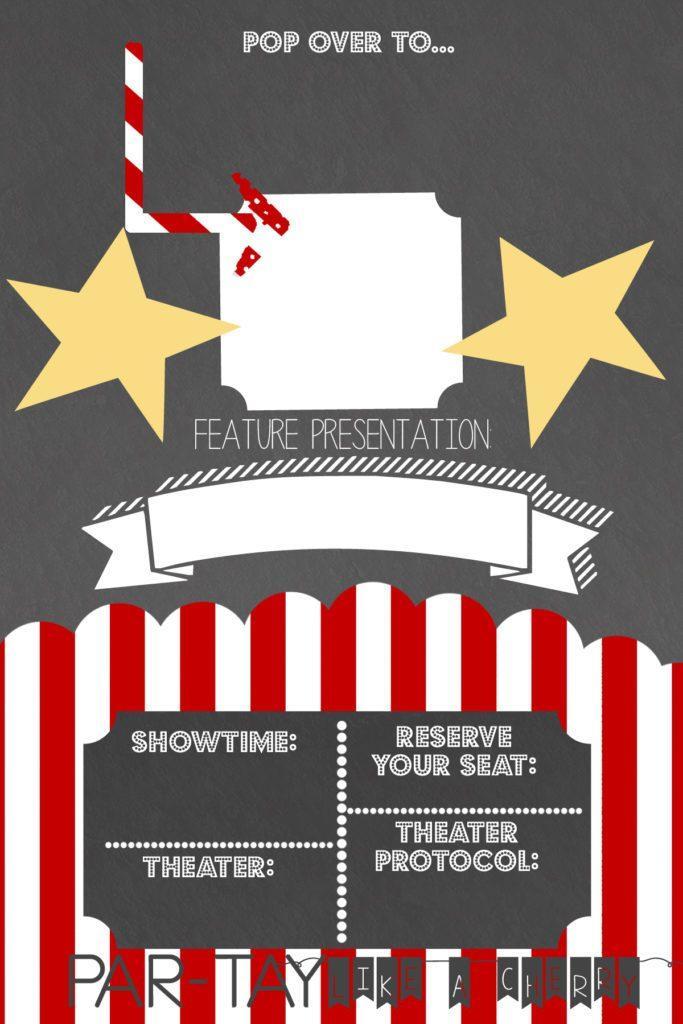 Free Movie Invitation Template
