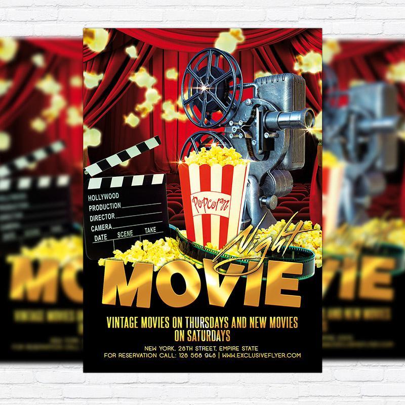 Free Movie Night Flyer Template
