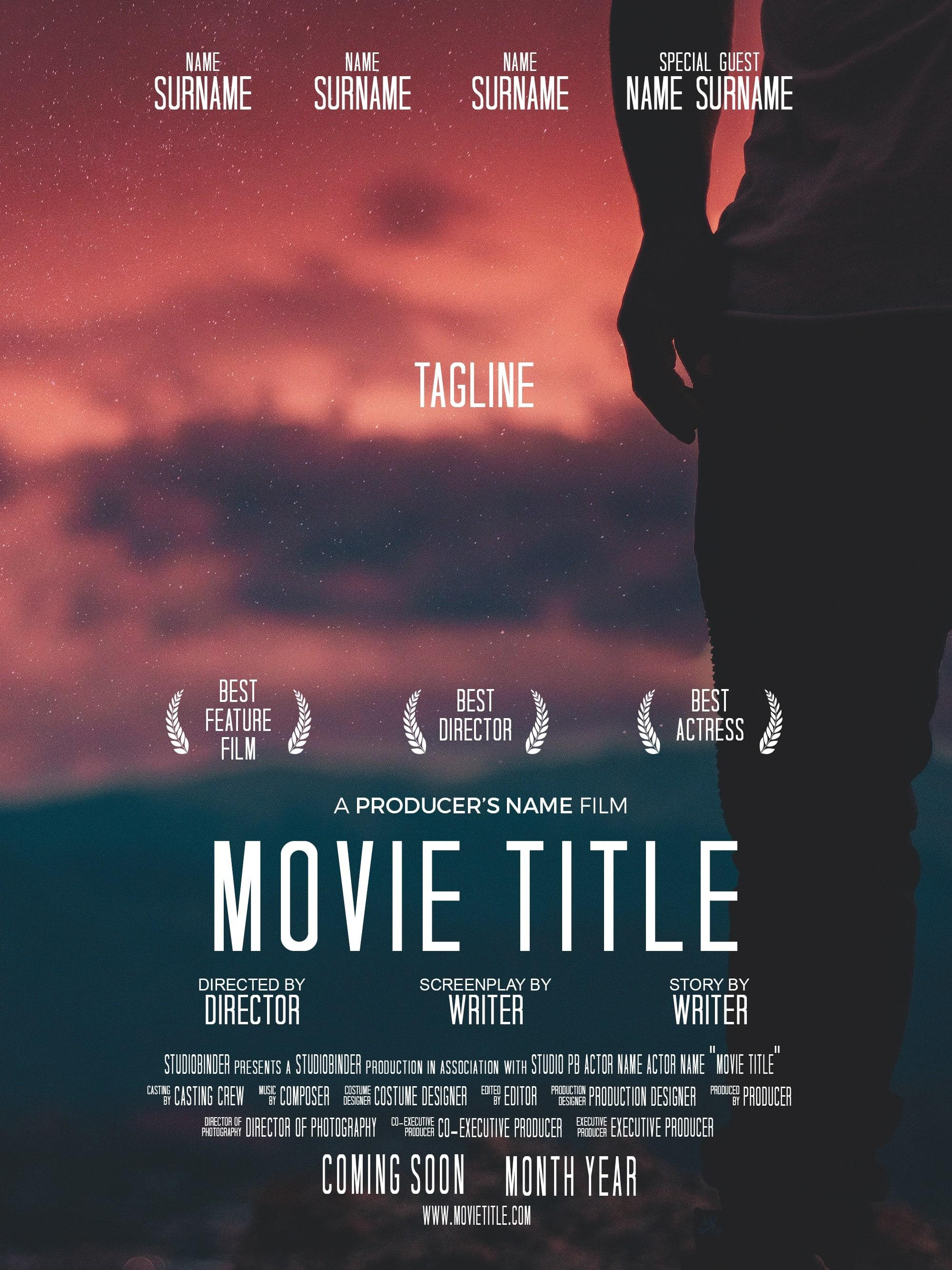 Free Movie Poster Template Psd