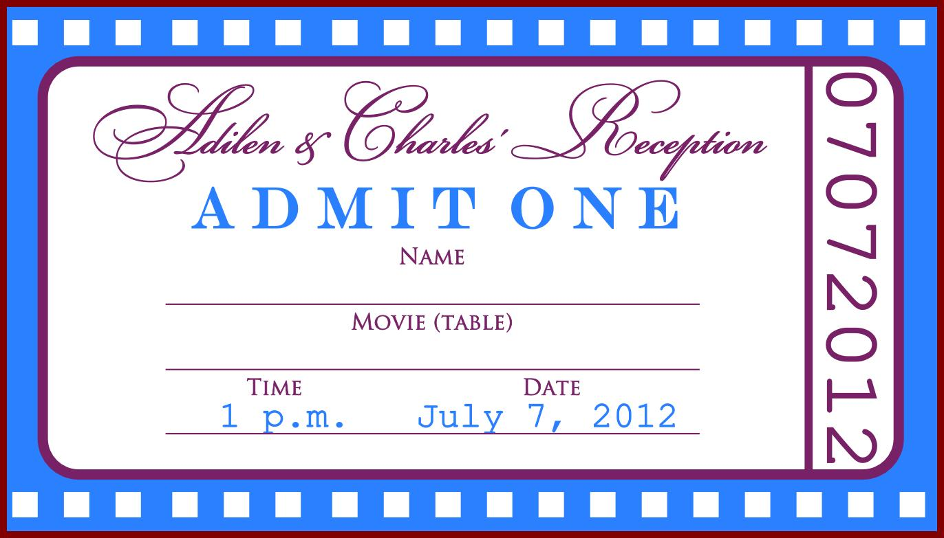Free Movie Ticket Template For Word
