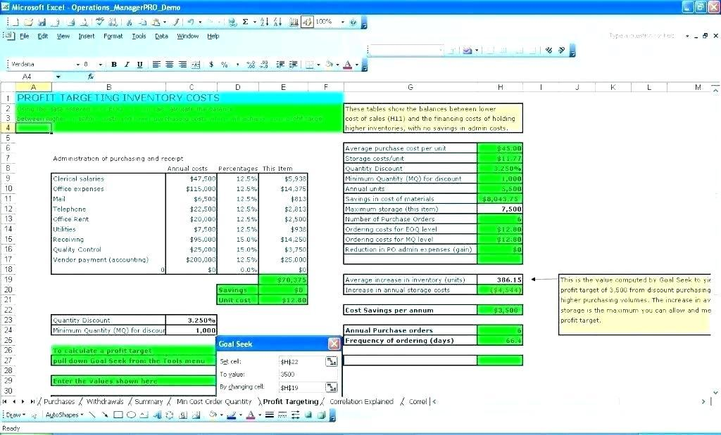 Free Ms Excel Inventory Management Template