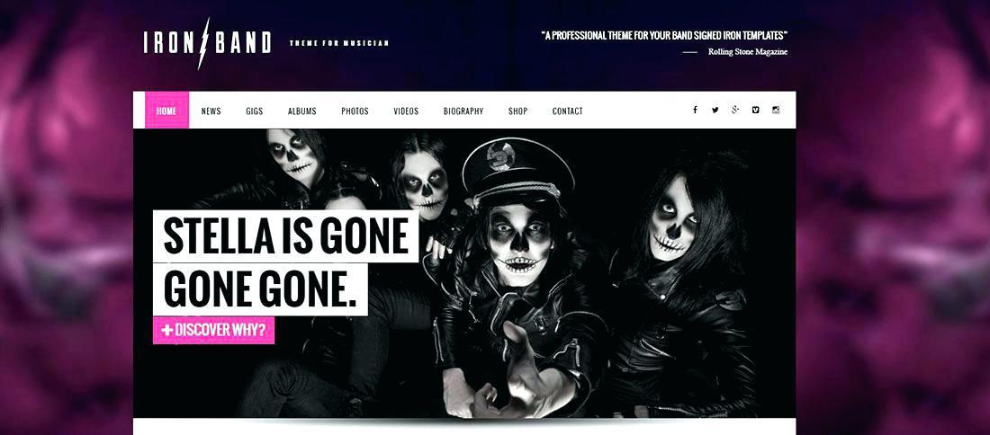Free Music Festival Website Templates