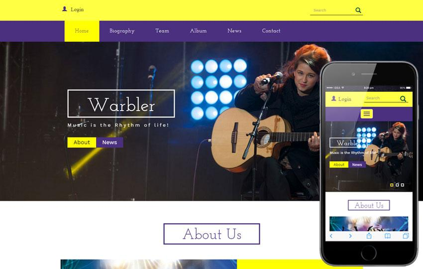 Free Music Player Website Templates