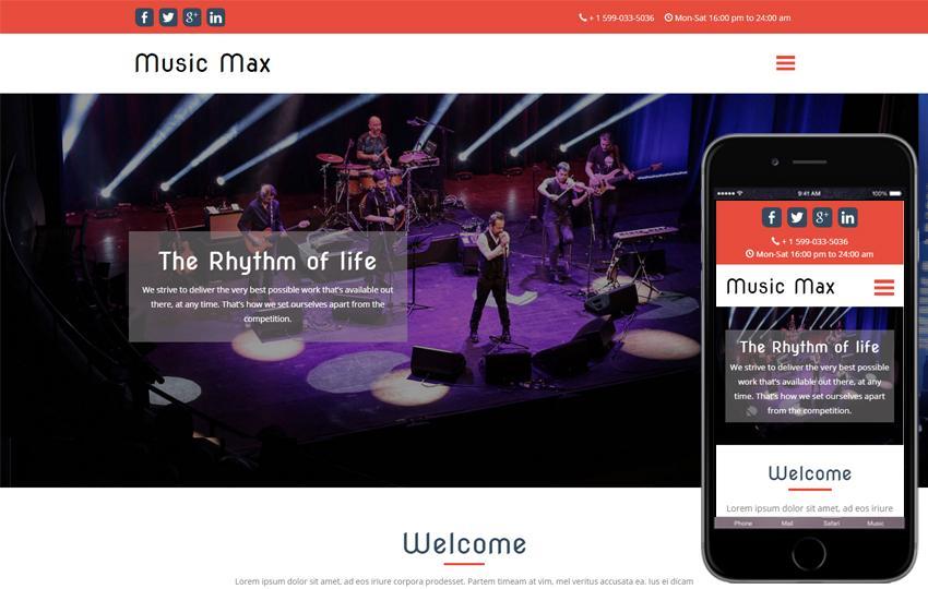 Free Music Website Templates Html