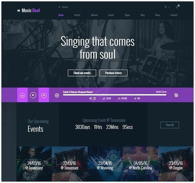 Free Musician Website Templates