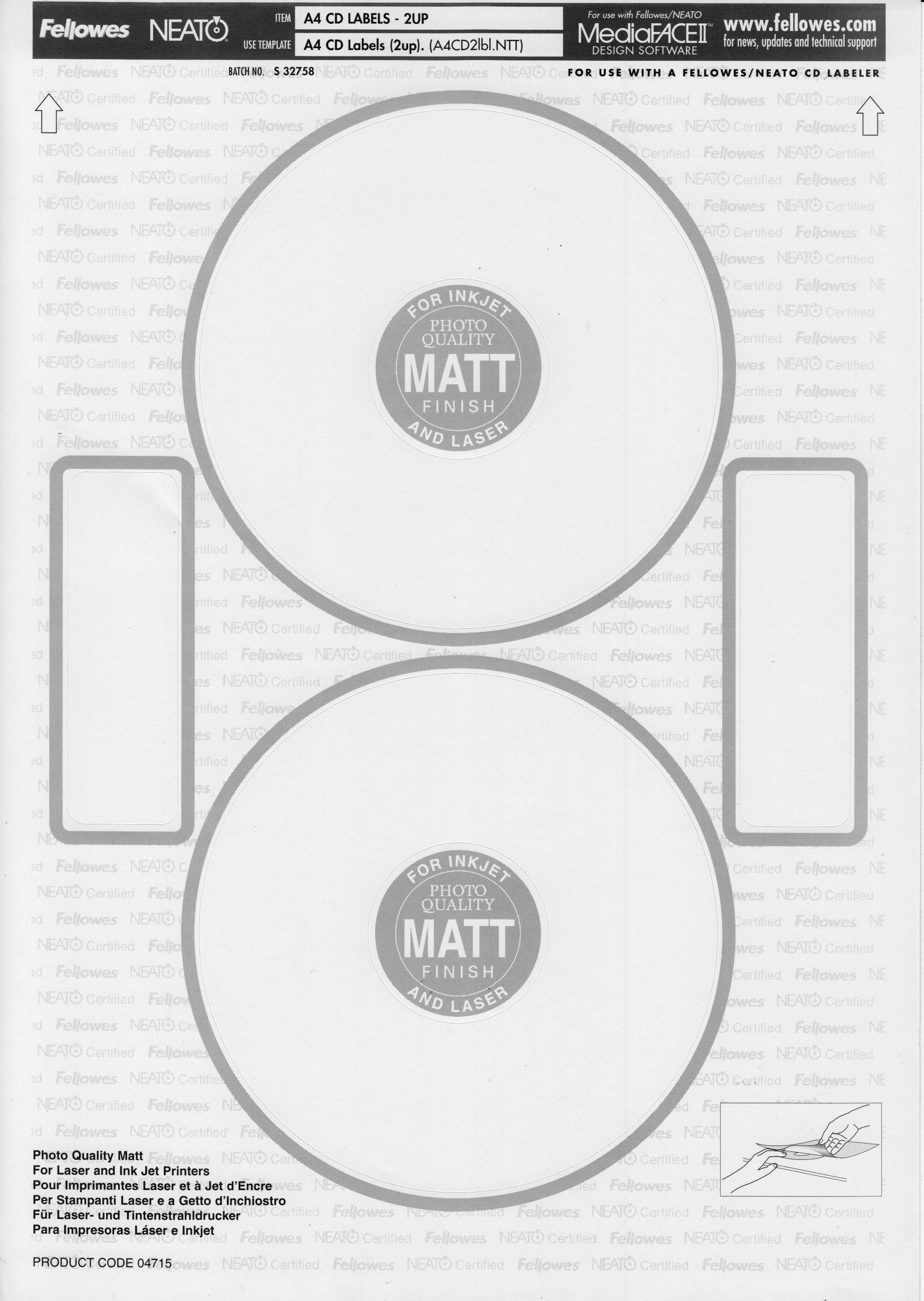 Free Neato Dvd Label Template