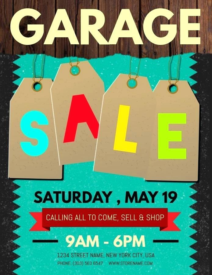 Free Neighborhood Garage Sale Flyer Template